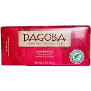 Dagoba Roseberry Dark chocolate Bars, 2 oz. Bars, 12/Pack