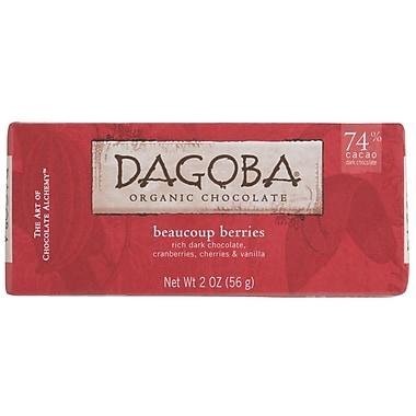 Dagoba Beaucoup Berry Chocolate Bars, 2 oz. Bars, 12/Pack
