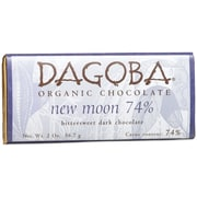 Dagoba New Moon Bittersweet Dark Chocolate Bars, 2 oz. Bars, 12/Pack