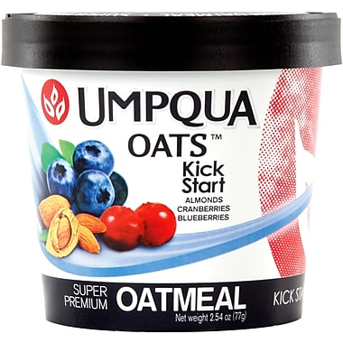 Umpqua Oats Kick Start All Natural Oatmeal, Nuts, Fruit And A Dash Of Brown Sugar, 2.7 oz., 24/Pack