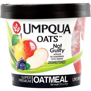 Umpqua Oats Not Guilty Oatmeal, Blueberries, Flax & Chia Seeds, 1.9 oz., 12/Pack