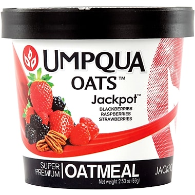 Umpqua Oats™ Jackpot All Natural Oatmeal, Raspberries, Strawberries, Blackberries & Pecans, 2.6 oz.
