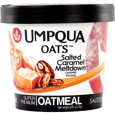 Umpqua Oats Salted Caramel Meltdown All Natural Oatmeal, 2.8 oz., 12/Pack