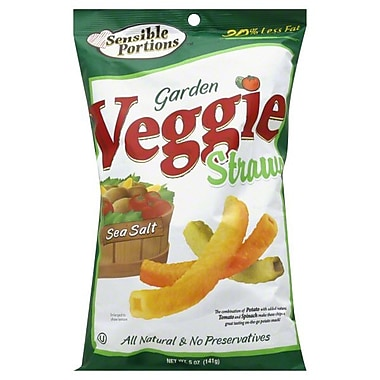 Sensible Portions All Natural Sea Salt Garden Veggie Straws, 1 oz., 30/Pack