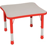 "Balt Brite Kids 30"" Plastic Square Table, Fire Engine Red"