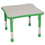 "Balt Brite Kids 30"" Plastic Square Table, Grass Green"