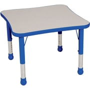 "Balt Brite Kids 30"" Plastic Square Table, Royal Blue"