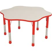 "Balt Brite Kids 48"" Plastic Flower Table, Fire Engine Red"