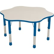"Balt Brite Kids 48"" Plastic Flower Table, Royal Blue"