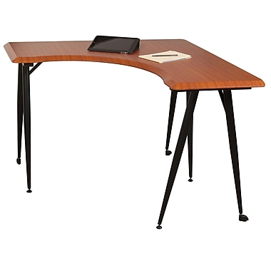 Balt 90330 L-Flex Corner Desk, Cherry Woodgrain