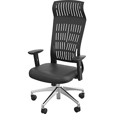 Balt Fly Padded High Back Office Chair With Arms, Black