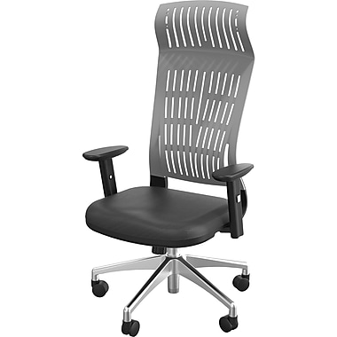 Balt Fly Padded High Back Office Chair With Arms, Gray