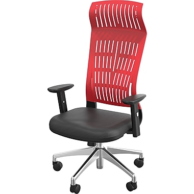 Balt Fly Padded High Back Office Chair With Arms, Red