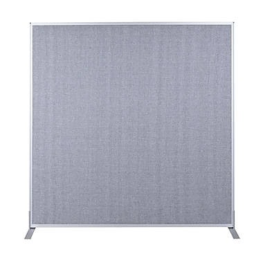 Best-Rite Fabric Standard Modular Panel, 6' x 4' Gray