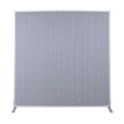 Best-Rite Fabric Standard Modular Panel, 5' x 4', Gray