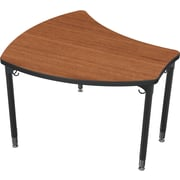 Balt Black Legs/Edgeband Large Shapes Desk Without Book Box, Amber Cherry
