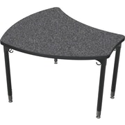 Balt Black Legs/Edgeband Large Shapes Desk Without Book Box, Graphite Nebula