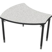 Balt Black Legs/Edgeband Large Shapes Desk Without Book Box, Gray Nebula