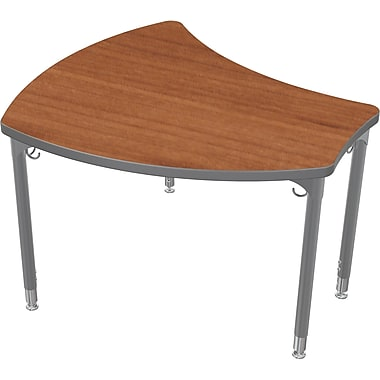 Balt Platinum Legs/Edgeband Large Shapes Desk Without Book Box, Amber Cherry