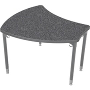Balt Platinum Legs/Edgeband Large Shapes Desk Without Book Box, Graphite Nebula