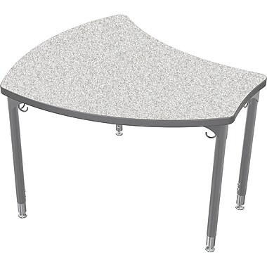 Balt Platinum Legs/Edgeband Large Shapes Desk Without Book Box, Gray Nebula