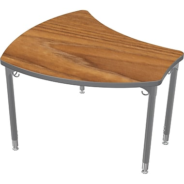 Balt Platinum Legs/Edgeband Large Shapes Desk Without Book Box, Nepal Teak