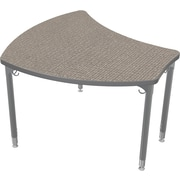 Balt Platinum Legs/Edgeband Large Shapes Desk Without Book Box, Pewter Mesh
