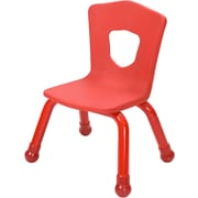 Balt Brite Kids 11 1/2 Stacking Chair, Set of 4, Fire Engine Red