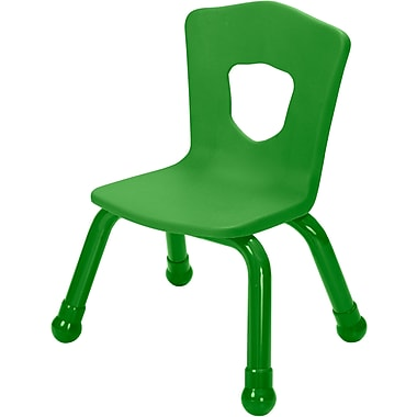 Balt Brite Kids 11 1/2in. Stacking Chair, Set of 4, Grass Green