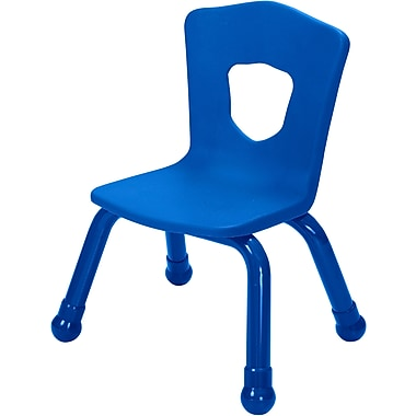 Balt Brite Kids 11 1/2in. Stacking Chair, Set of 4, Royal Blue
