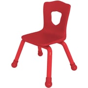 Balt Brite Kids 15 1/2 Stacking Chair, Set of 4, Fire Engine Red