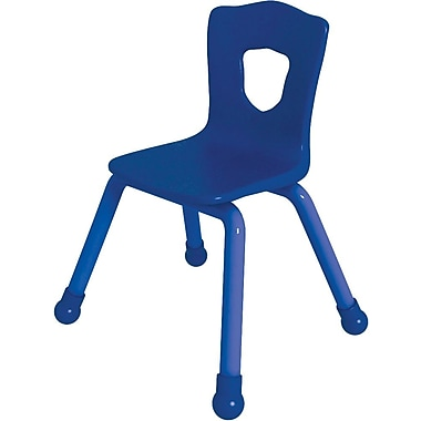 Balt Brite Kids 13 1/2in. Stacking Chair, Set of 4, Royal Blue