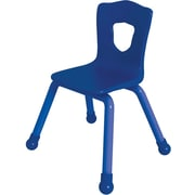 Balt Brite Kids 15 1/2 Stacking Chair, Set of 4, Royal Blue