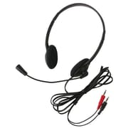 Califone® 3065Av Lightweight Mic Headset, Black