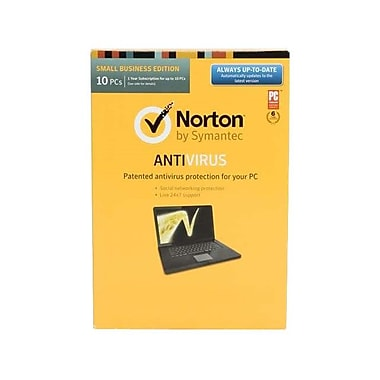 Symantec™ Norton 21.0 English Small Office Pack 10 User MM Antivirus Software