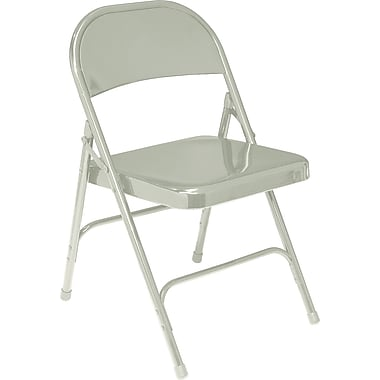 NPS® 50 Series All-Steel Armless Standard Folding Chair, Gray
