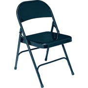 NPS® 50 Series All-Steel Armless Standard Folding Chair, Char-Blue
