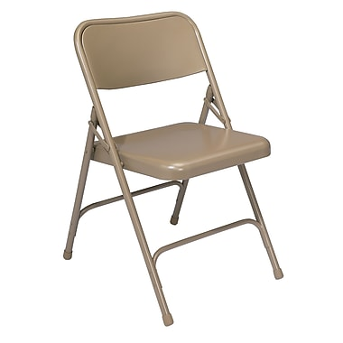 NPS® 200 Series All-Steel Armless Premium Folding Chair, Beige