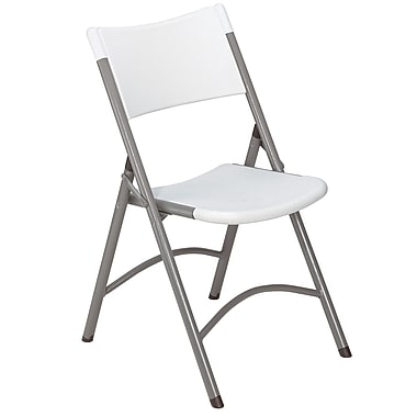 NPS® 600 Series Plastic Blow Molded Folding Chair, Speckled Gray/Textured Gray