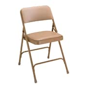 NPS® 1200 Series Vinyl Armless Premium Folding Chair, French Beige/Beige