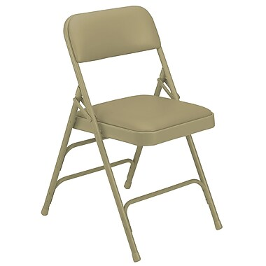 National Public Seating 1301 Vinyl Folding Chair, Beige
