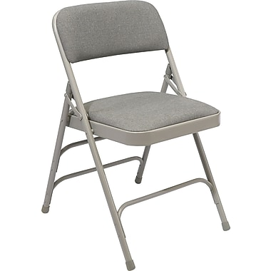 NPS® 2300 Series Fabric Armless Premium Folding Chair, Graystone/Gray