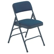 NPS® 2300 Series Fabric Armless Premium Folding Chair, Imperial Blue/Char-Blue