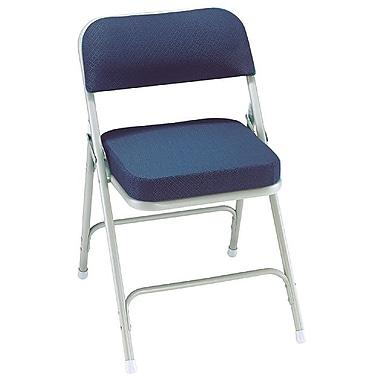 NPS® 3200 Series Fabric Armless Premium Folding Chair, Regal Blue/Gray