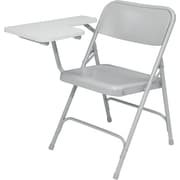 NPS® 5200 Series Steel Premium Folding Chair W/Right-Handed Tablet Arm, Gray