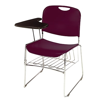NPS Plastic Hi Tech Ultra Compact Stack Chair Wine Chrome Staples