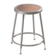 "NPS® 19"" - 26 1/2"" Hardboard Round Adjustable Stool, Gray, 5/Pack"
