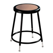 "NPS® 19"" - 26 1/2"" Hardboard Round Adjustable Stool, Black, 5/Pack"