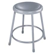 "National Public Seating 18"" Round Task Stool, Gray, 5/Pack (64185)"