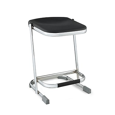 NPS® 22in. Blow Molded Square Elephant Z-Stool, Black
